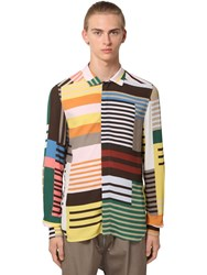 Rick Owens Stripe Printed Viscose Shirt Multicolor