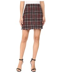 Sanctuary Siena Blanket Skirt Red Plaid Women's Skirt