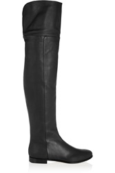 Jimmy Choo Mitty Textured Leather Over The Knee Boots