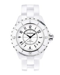 Chanel J12 38Mm White Ceramic Watch