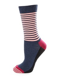 Happy Socks Striped Crew Navy