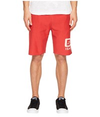 Todd Snyder Champion Logo Graphic Cut Off Shorts Faded Red Men's Shorts Pink