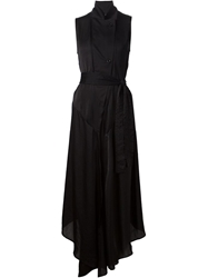 Lost And Found Stand Up Collar Asymmetric Dress
