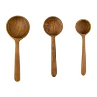 Sir Madam Teak Root Measuring Ladles Set Of 3