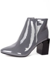 Alice And You Patent Ankle Boot Grey