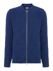 Peter Werth Coast Basket Weave Zip Through Bomber Indigo