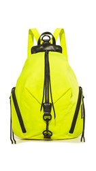 Rebecca Minkoff Nylon Julian Backpack Neon Yellow