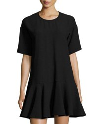 French Connection Arrow Drop Waist Oversized Dress Black