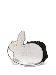 Hillier Bartley Bunny Leather Clutch Silver