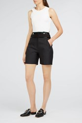 Victoria Beckham Women S Button Front Shorts Boutique1 Black