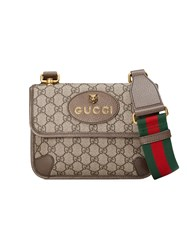 Gucci Gg Supreme Small Messenger Bag Nude And Neutrals