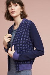 Anthropologie Eyelet Bomber Navy