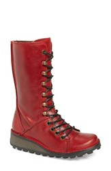 Women's Fly London 'Meik' Boot Red Rug Leather