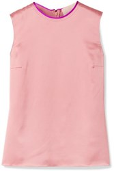 Roksanda Ilincic Kobe Silk Satin Top Blush