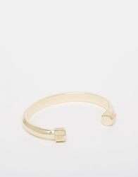 Asos Bangle With Screw Ends Gold