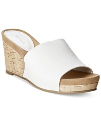 Styleandco. Style And Co. Jackeyy Wrapped Wedge Mules Only At Macy's Women's Shoes
