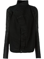 Rick Owens Drkshdw Wrap Detail Jacket Black