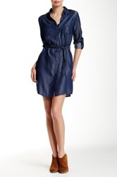 Iris Chambray Shirt Dress Blue