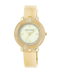 Anne Klein Horn Resin And Swarovski Crystal Bracelet Watch