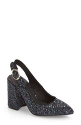 Shellys Women's London 'Chester' Slingback Glitter Pump