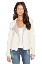 James Perse Shrunken Sherpa Jacket Ivory