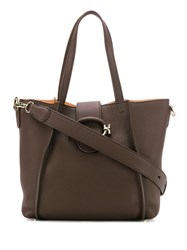 Tod's Double T Shopping Bag Brown