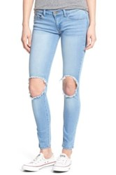 Sp Black Destroyed Skinny Jeans Blue