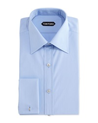 Tom Ford Classic French Cuff Dress Shirt Blue