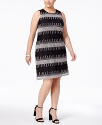 Alfani Plus Size Embroidered Shift Dress Only At Macy's Deep Black