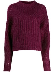 Isabel Marant Chunky Knit Jumper Purple