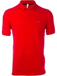 Sun 68 Logo Polo Shirt Red