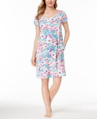 Miss Elaine Knit Watercolor Print Nightgown Spring Watercolor Floral