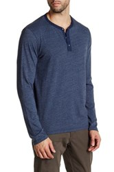 Velvet By Graham And Spencer Long Sleeve Crew Neck Shirt Blue