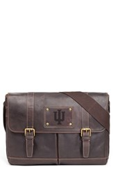 Men's Jack Mason Brand 'Gridiron Iowa State Cyclones' Leather Messenger Bag Brown