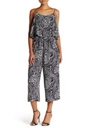 Cynthia Steffe Caris Printed Popover Jumpsuit Gray