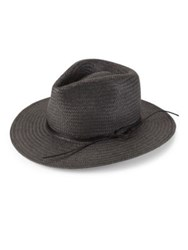 Rag And Bone Packable Straw Fedora Natural Black