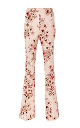 Giambattista Valli High Waisted Floral Trousers Pink