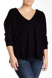 14Th And Union Deep V Pullover Plus Size Black