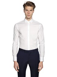 Z Zegna Slim Fit Stretch Cotton Poplin Shirt