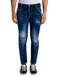 Viktor And Rolf Distressed Skinny Fit Jeans Blue