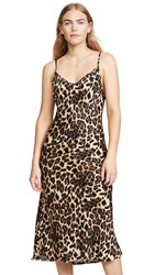 Nation Ltd. Ltd Sofia Bias Slip Dress Leopard