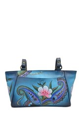 Anuschka Hand Painted Leather East West Tote Multi