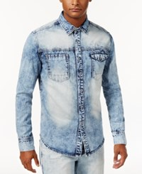 Sean John Men's Denim Shirt White