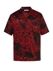 Givenchy Monster Print Cotton Shirt Black Red