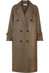 Sonia Rykiel Woman Double Breasted Prince Of Wales Checked Wool Coat Camel