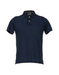 Original Vintage Style Polo Shirts Dark Blue