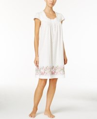 Charter Club Lace Trimmed Border Print Nightgown Only At Macy's Rose Border
