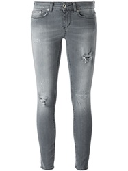 Dondup Distressed Skinny Jeans Grey