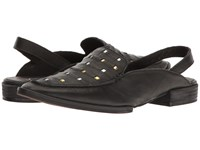 Free People Bakersfield Slingback Mule Black Women's Slip On Shoes