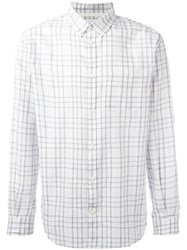 Norse Projects Checked Shirt White